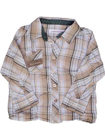 Chemise manches longues garçon MINIMAN gris 2 ans hiver #897246_1