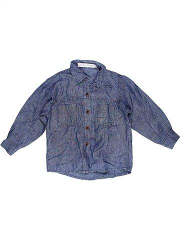 Chemise manches longues garçon LE PHARE DE LA BALEINE bleu 3 ans hiver #961248_1