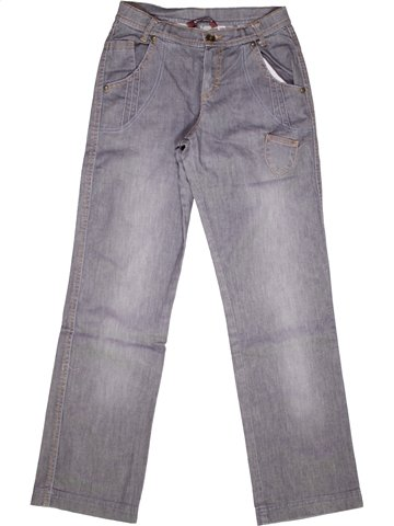 Jean fille OOXOO gris 12 ans hiver #986751_1